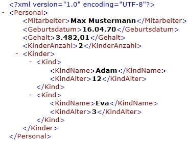 XML-Ergebnis-Datei